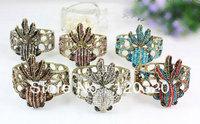 Exquisite Jewelry Charms Crystal Rhinestone Animal Goldfish Bracelets Bangles