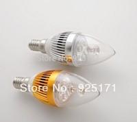 LZ09 E14 3W 3LED 270Lumens 10Pcs LED Candle Bulb 85-265V Warm White/White/ Cold White Highlighted Candle Light