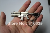 "3.3"" Mini CF M16 Carbine Rifle with Grenade Launcher Keys Ring Cross Fire Assault Machine Gun Keychain Collction"