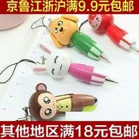 New arrival endulge pen miscellaneously wooden cartoon animal portable pen ballpoint pen mobile phone chain multi-purpose pen 10
