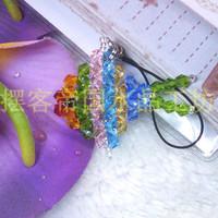 Crystal pendant pavans plaid handmade beaded crystal