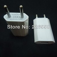 White EU Plug Charger Genuine 5V,1A USB input Travel /Home Wall Charger for iPhone 4,for iPhone 3G,for iPhone 3Gs