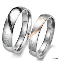 Wholesale Love Ring Titanium Steel Couple Ring GJ284 Titanium Rings Free Shipping