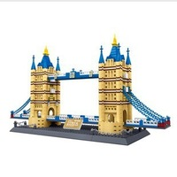 Educational toys stereo amount blocks plastic toy building model twin bridge (London)