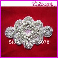 Crystal applique, rhinestone applique, wedding applique, beaded crystal patch, DIY wedding sash, headband, headpiece-45pcs