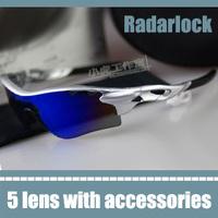 radarlock bike sport cycling glasses interchangeable 5 lens sports sun sunglasses blue mirrored jogging running men eyewear