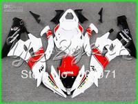 Y197 White Red Black Full Fairing Kit for YZF-R6 06-07 YZF R6 06 07 YZFR6 R6 600 2006-2007 2006 2007