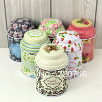 Free shipping pig nose cans / European pastoral floral tea caddy / candy box / swab box / Tin box wholesale