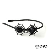 Mix $14 Free shipping Original handmade hair bold jewelry headcloth cobweb with rose design head hoop night club
