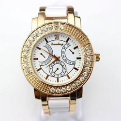 Watch Women, 2013 Ladies diamond Ceramic Luxury Bracelet Watches, Dress Stainless Steel Quartz Watches, Free Shipping!(China (Mainland))