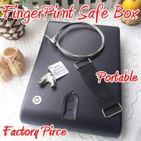 Free Shipping Factory Pirce Executive Fingerprint Biometric Portable Security Case For Pistol Handgun