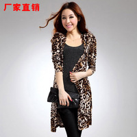 2013 autumn women's leopard print jacket slim long-sleeve animal print coats outerwear sexy cardigan sweater