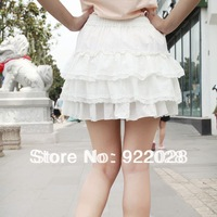 Free Shipping high quality 2013 summer women's lace short dress free size layered Skirts