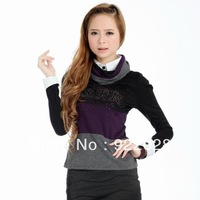 Free Shipping high quality 2013 spring autumn women's slim short design fashion sweaters