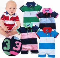 FREE SHIP HOT SALE 3pcs/lot baby boy romper Short sleeve cotton bodysuits infants wear jumpsuits 80/90/95 HOT Brand garment