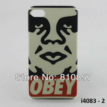 RETAIL, High Quality OBEY Design Case for iPhone 4 4S Hard Print Cover, FREE SHIP