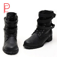 Boots high boots casual boots fashion male boots plus cotton thermal increased boots  martin boots