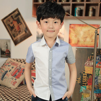 Child shirt short-sleeve children's clothing shirt child summer male 2013 child