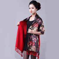 2013 spring mulberry silk scarf double layer silk brushed scarf cape female