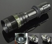 New CREE Q5 LED Lamp Flashlight Zoomable Zoom Torch 200 Lumens Light 3 Modes