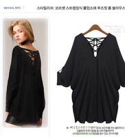 Free shipping 2013 new women's summer new fashion loose shirt T-shirt back straps