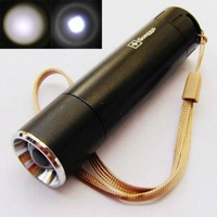 Black Mini Bright CREE Q5 LED Flashlight Zoomable Focus 180 Lumens Lamp Torch