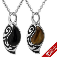 Dragon knight tiger's eye agate necklace male necklace vintage fashion pendant gift