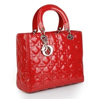 2013 Fashion trend of the paragraph of cd plaid sewing thread shaping japanned leather bag handbag  women's   bags