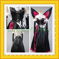 Free Shipping Custom Made Accel World Cosplay  Kuroyukihimei Gown Costume,2kg/pc