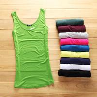 super quality Modal long style tanks women tops ladies' tank tops basic shirts sleeveless t-shirt fashion t-shirt