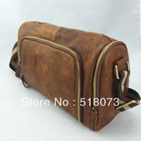 Quality! Genuine Leather Male messenger bag cowhide fashion vintage Cross-body brief Design bag vertical b349