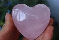 NATURAL PRETTY ROSE QUARTZ CRYSTAL HEART HEALING 50g--70g
