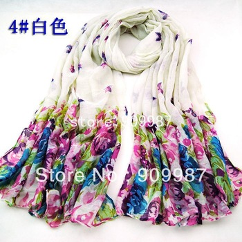 free shipping women's cotton printe butterfly flower floral head hijab long scarf/scarves.180*100cm.15pcs/lot.