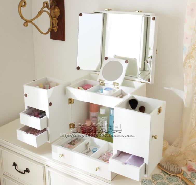 Ofhead mirror cabinet jewelry cosmetic storage box cabinet