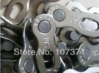 10set/lot new 10S KMC bicycle chain Mountain/ road bike Chain magic button use for 10 speed chain bike parts Free shipping