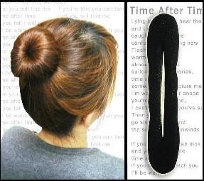 Stella free shipping Hot-selling high-elastic hair maker high quality elegant sponge hair maker meatball head bud hair band