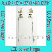 free shipping. New LCD hinges for Asus K42, K42De, K42F,K42JB,K42JC,K42JR,Left and right