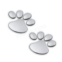 [Wholesale] 3D Cool Bear Dog Footprints Car Stickers PVC Personality Car Decoration Cute Animal Stickers Free Shipping