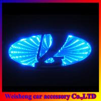3D laser logo decorative lights For LADA Kalina 10*4.5cm car badge LED lamp ghost shadow light car emblem led light