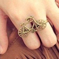 Sheegior Personality Cute Europe and America Fashion bronze Bicycle rings Free shipping
