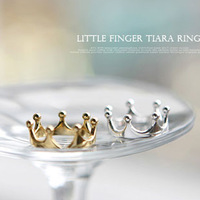 Sheegior Min.order $10 mix order Fashion elegant crown lady rings  Gold /silver Free shipping