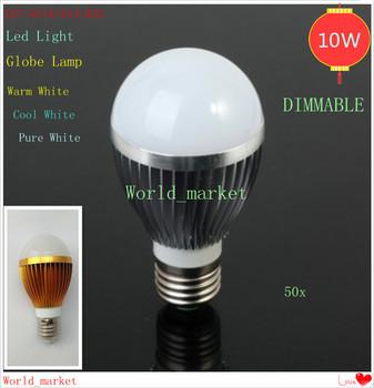 50X 10W Globe Led Light 5X2W Dimmable E27/GU10/E14/B22 10w Led Lamp 85V-265V Led Light Bubble Ball Bulbs