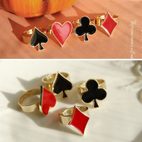 Sheegior New fashion Lovely Poker element Gold Plated Unisex rings  Free shipping Min.order $10 mix order