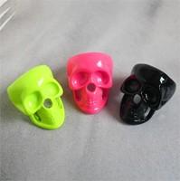 Sheegior Punk fashion fluorescent color Skull women ring Free shipping