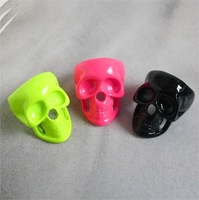 Sheegior Punk fashion fluorescent color Skull women ring Free shipping