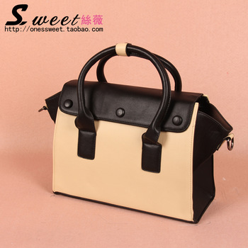 2013 women's handbag shoulder bag handbag cross-body women's bags vintage color block messenger bag