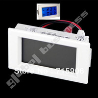 Blue LCD AC volt & amp combine 2 in 1 panel meter 300V 50A