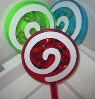 free shipping,Lollipop candy bell, transparent rattle baby children toy