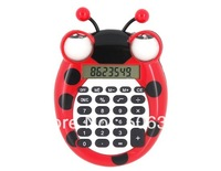 Free shipping + Cartoon Bee Mini Calculator - Red/Yellow/Orange