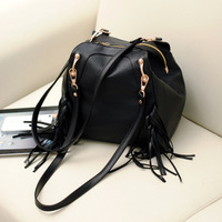 2013 spring and summer fashion trend of the tassel shoulder bag handbag women's backpack messenger bag